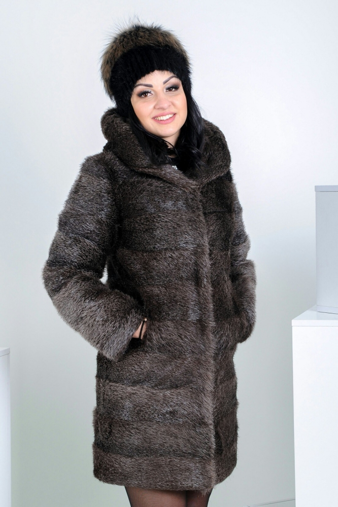 "Fur coat from nutria ""Curzavella"""