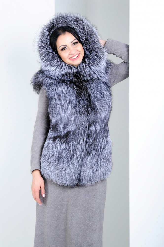 "Fur vest from arctic fox ""Chiliy"""